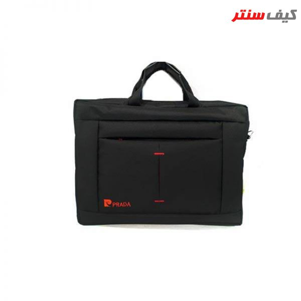 کیف لپ تاپ دستی مدل PRADA مناسب لپ تاپ های 15.6 اینچی
